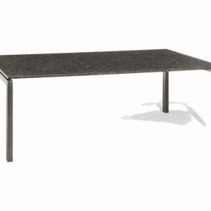 Bergamo dining tuintafel 180x90xH75 cm 2cm graniet pearl grey gezoet
