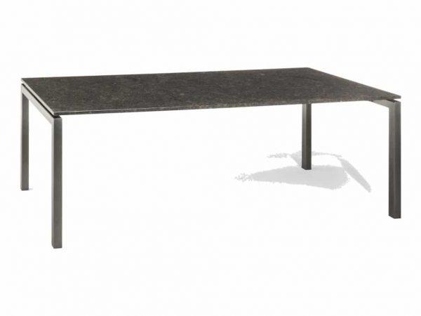 Bergamo dining tuintafel 220x90x75 cm 2cm graniet pearl grey gezoet