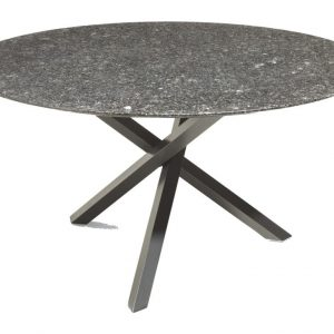 Gigi dining tuintafel120cm graniet pearl black satinado
