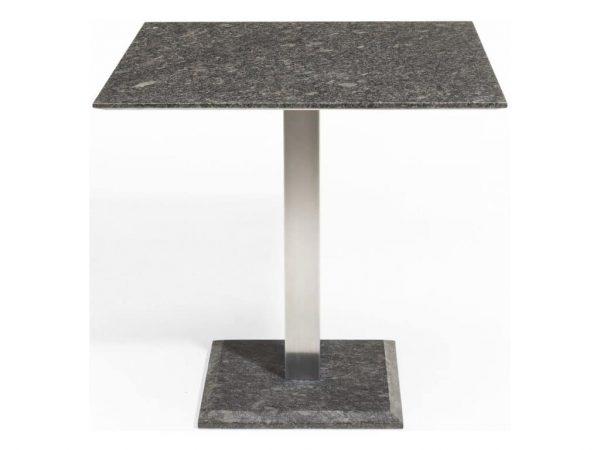 Edam graniet 90x90 cm RVS Studio20 tafel pearl black satinado