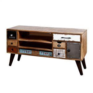 Tv-meubel 'Eleonora Vintage' met 1 deur en 7 laden