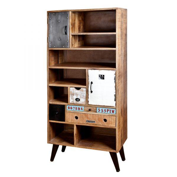 Boekenkast 'Eleonora Vintage' met 2 deuren en 4 laden