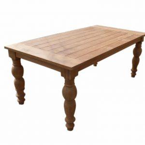 Amalia 180cm bolpoten tafel grade A teakhout