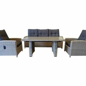 San Marino combi lounge-diningset natural kobo grey