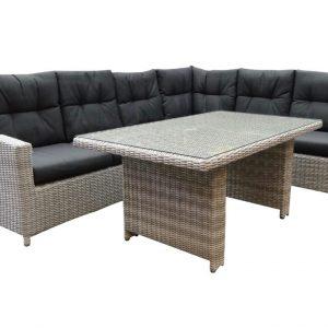 San Marino verstb. corner rechts lounge-diningset natural white grey