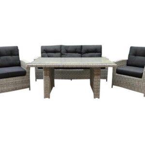 San Marino combi lounge-diningset natural white grey