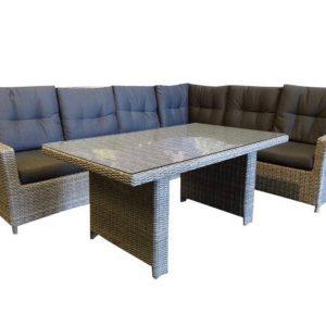 San Marino verstb. corner rechts lounge-diningset natural kobo grey