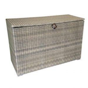 Kussenbox n. kobo grey vlechtwerk 167x70xH106