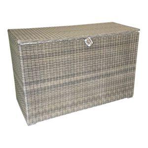 Kussenbox n. kobo grey vlechtwerk 127x47xH72