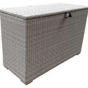 Kussenbox n. white grey vlechtwerk  167x70xH106