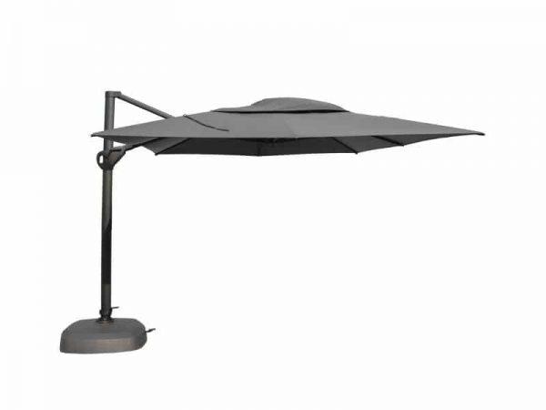 Hacienda parasol 300x400 cm antraciet + taupe doek