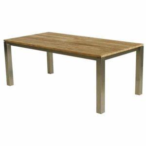 Grace tafel 200X100X75 RVS / teak