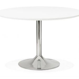 Kokoon Design Eettafel 'Bleta 120', kleur Wit