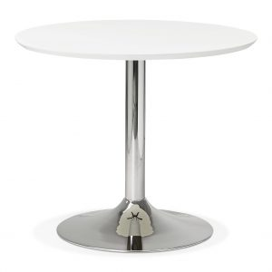 Kokoon Design Eettafel 'Bleta 90', kleur Wit