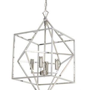 Light & Living Hanglamp 'Charelle' 4-Lamps, nikkel