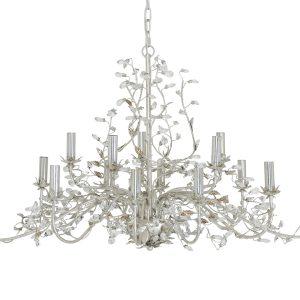 Light & Living Hanglamp 'Evita' 15 lichts 122x72x150 cm E14, zilver