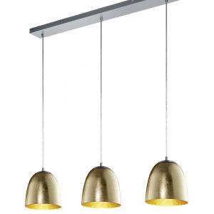 TRIO Hanglamp 'Ontario', 3-lamps, kleur Goud