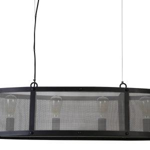 Light & Living Hanglamp 'Lancelot' 4 lichts 100x31x25 cm, zwart