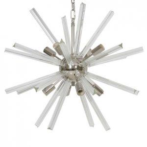 Light & Living Hanglamp 'Beleke' 8-Lamps, glas helder+nikkel