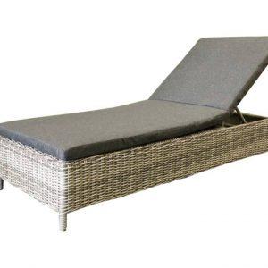 Sama Mambo lounge ligbed wit grijs