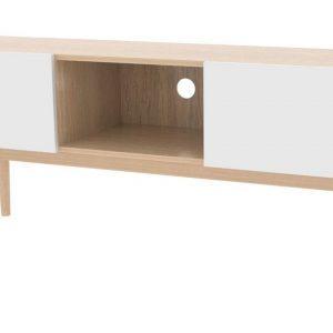 Interstil TV-meubel 'Bergen' 150cm, kleur eiken/wit