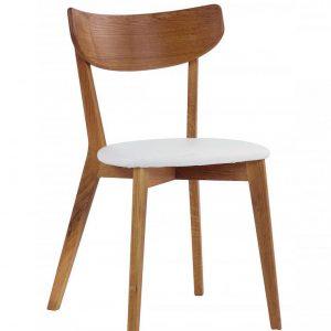 Nordiq Ami chair | Oak | Wit kussen - retro design - stoel eiken - kussen wit