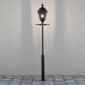 Konstsmide Staande Buitenlamp 'Pallas' 260cm hoog, E27 max 100W / 230V, kleur Zwart