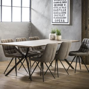 Eettafel 'Harold' 200 x 100cm, kleur eiken greywash