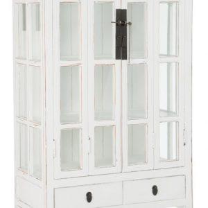 J-Line Vitrinekast 'Ghilaine' 85cm, kleur wit
