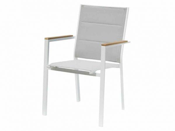 Twins alu Mouse grey textileen stoel