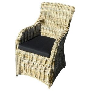 Surabaya stoel naturel rotan + zwart