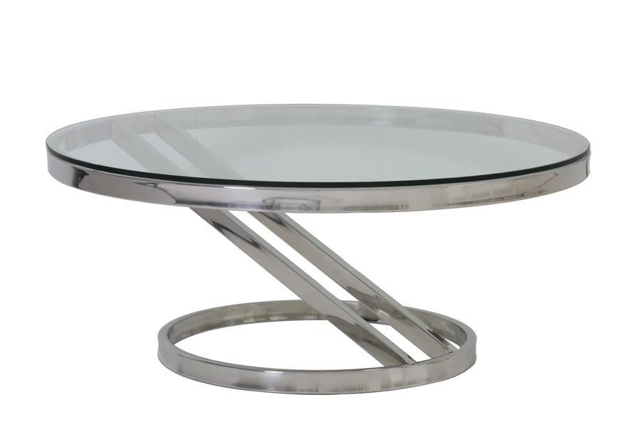 Salontafel Messing Met Glas.Light Living Salontafel Vinces Glas Nikkel