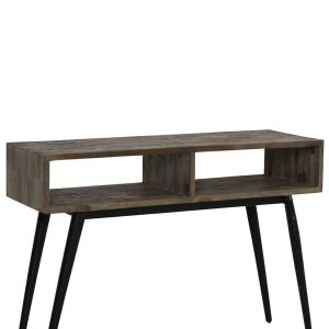 Light & Living Sidetable 'Taburico' open, mix hout-mat zwart