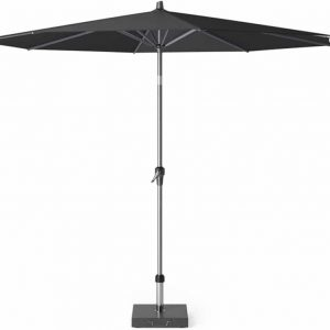 Riva premium parasol 300 cm faded black met kniksysteem
