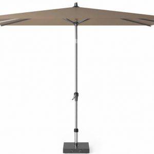Riva parasol 300x200 cm taupe met kniksysteem