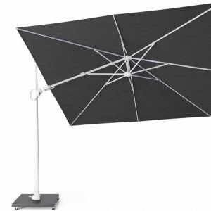 Challenger T2 premium zweefparasol 300x300 cm  witte mast faded black