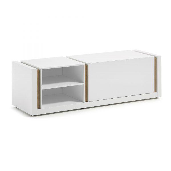 Kave Home Tv-meubel 'De', Wit met klep