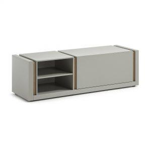 Kave Home Tv-meubel 'De', Grijs met klep