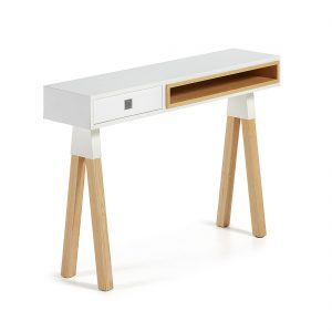 Kave Home Sidetable 'Silke', kleur wit