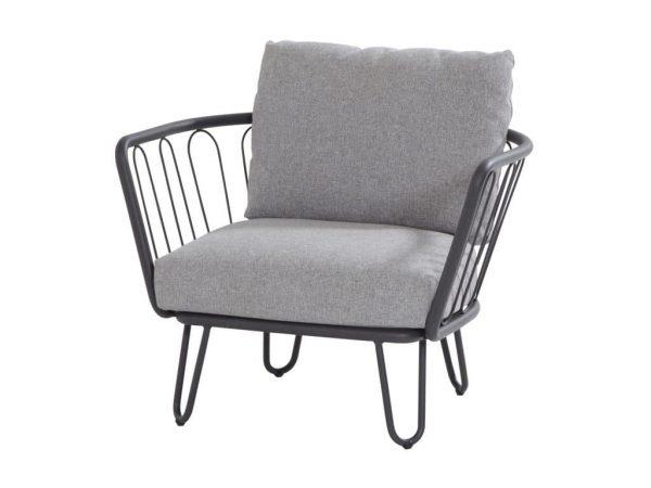 Premium lounge tuinstoel antraciet
