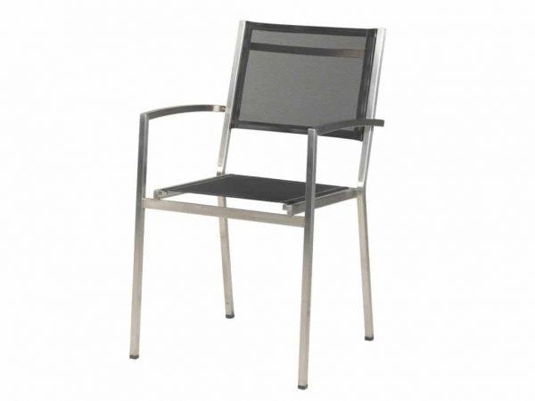 Plaza stapelbare stoel zwart 4 Seasons Outdoor