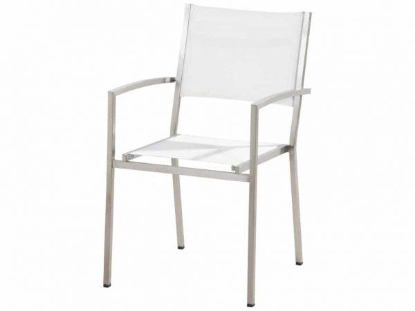 Plaza stapelbare stoel RVS wit 4-Seasons Outdoor
