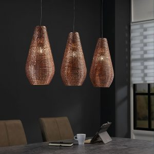 Mioni Hanglamp 'Brassy' 3-lamps