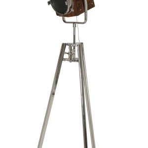 Light & Living Vloerlamp 'George' driepoot H196, hout