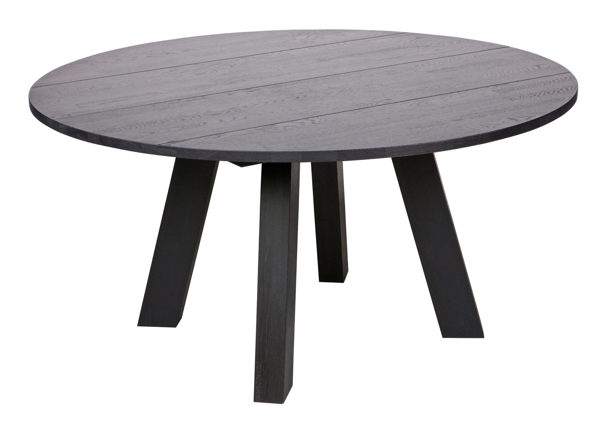 Woood Ronde Tafel : Woood ronde eettafel rhonda xl eiken cm kleur zwart