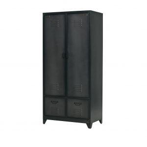 vtwonen Lockerkast 'Safe' 190cm metaal, kleur Zwart