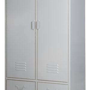 vtwonen Lockerkast 'Safe' 190cm metaal, kleur Zilvergrijs