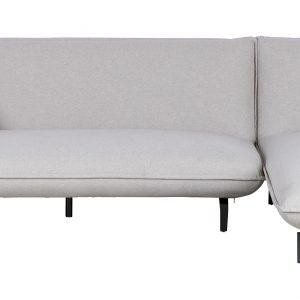 Woood 3-zitsbank 'Bow' met lounge rechts, kleur Lichtgrijs