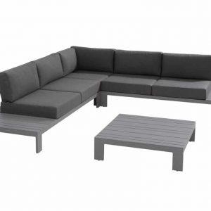 Ocean hoek loungeset 4-delig donkergrijs aluminium