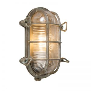 Wand- en plafondlamp Nautica 1 ovaal antiek